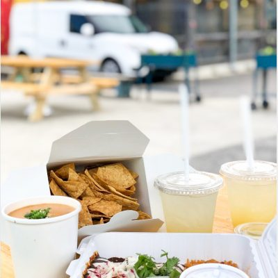 Enjoy chips on our patio
